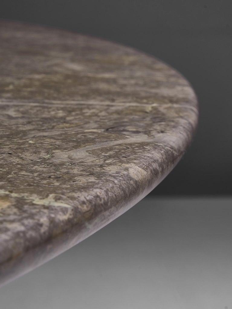 Angelo Mangiarotti Italian Dark Grey Marble Dining Table For Sale 3