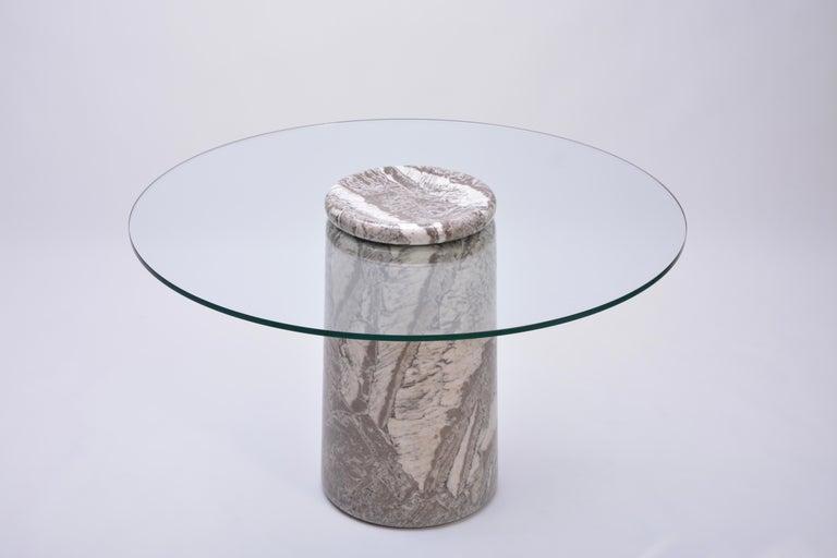 Angelo Mangiarotti, Großer Italienischer Marmor Esszimmertisch, Modell Castore, 1975 2