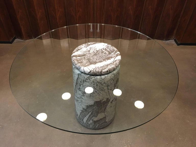 Angelo Mangiarotti, Großer Italienischer Marmor Esszimmertisch, Modell Castore, 1975 3