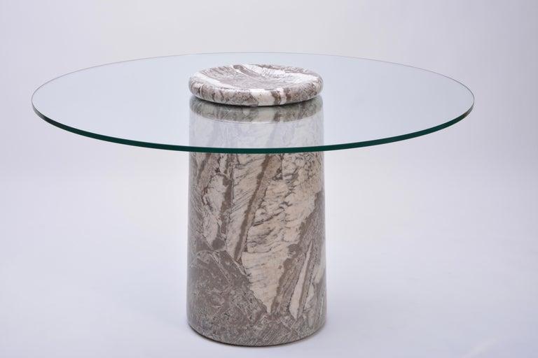 Angelo Mangiarotti, Großer Italienischer Marmor Esszimmertisch, Modell Castore, 1975 4