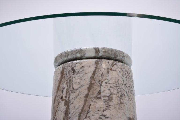 Angelo Mangiarotti, Großer Italienischer Marmor Esszimmertisch, Modell Castore, 1975 6