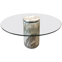 Angelo Mangiarotti Large Italian Marble Dining Table Model Castore, 1975