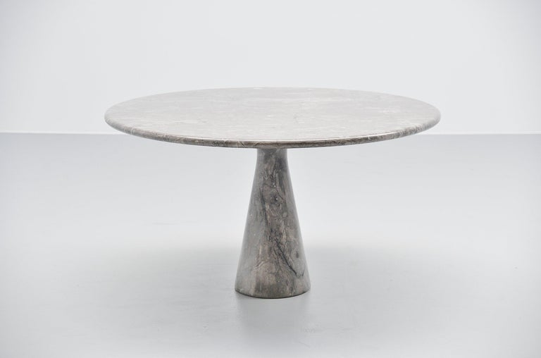 Italian Angelo Mangiarotti M1 T70 Table Grey Marble Skipper, 1969 For Sale