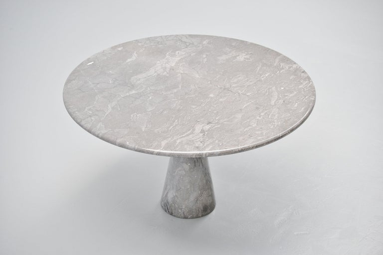 Angelo Mangiarotti M1 T70 Table Grey Marble Skipper, 1969 In Good Condition For Sale In Roosendaal, Noord Brabant