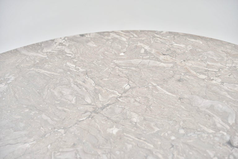Mid-20th Century Angelo Mangiarotti M1 T70 Table Grey Marble Skipper, 1969 For Sale