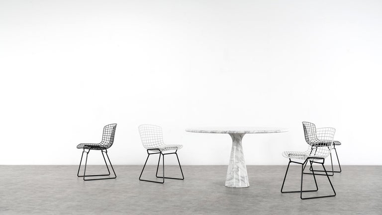 Angelo Mangiarotti Marble Dining Table 1972 by Skipper, Italy In Good Condition For Sale In Munster, NRW