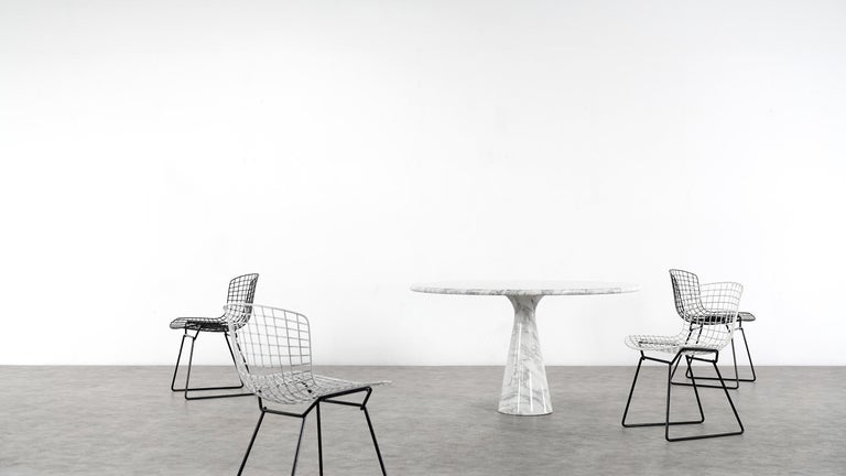 Late 20th Century Angelo Mangiarotti Marble Dining Table 1972 by Skipper, Italy For Sale