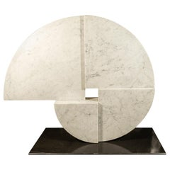 Angelo Mangiarotti, Marble Sculpture, Italy, circa 1960