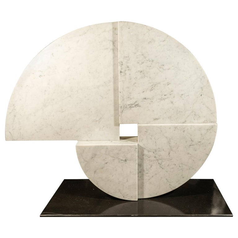 Angelo Mangiarotti, Marble Sculpture, Italy, circa 1960 For Sale