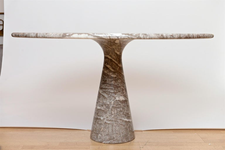 Mid-Century Modern Angelo Mangiarotti marble table by Skipper For Sale