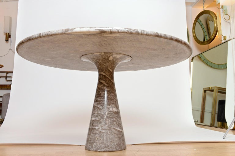 Italian Angelo Mangiarotti marble table by Skipper For Sale