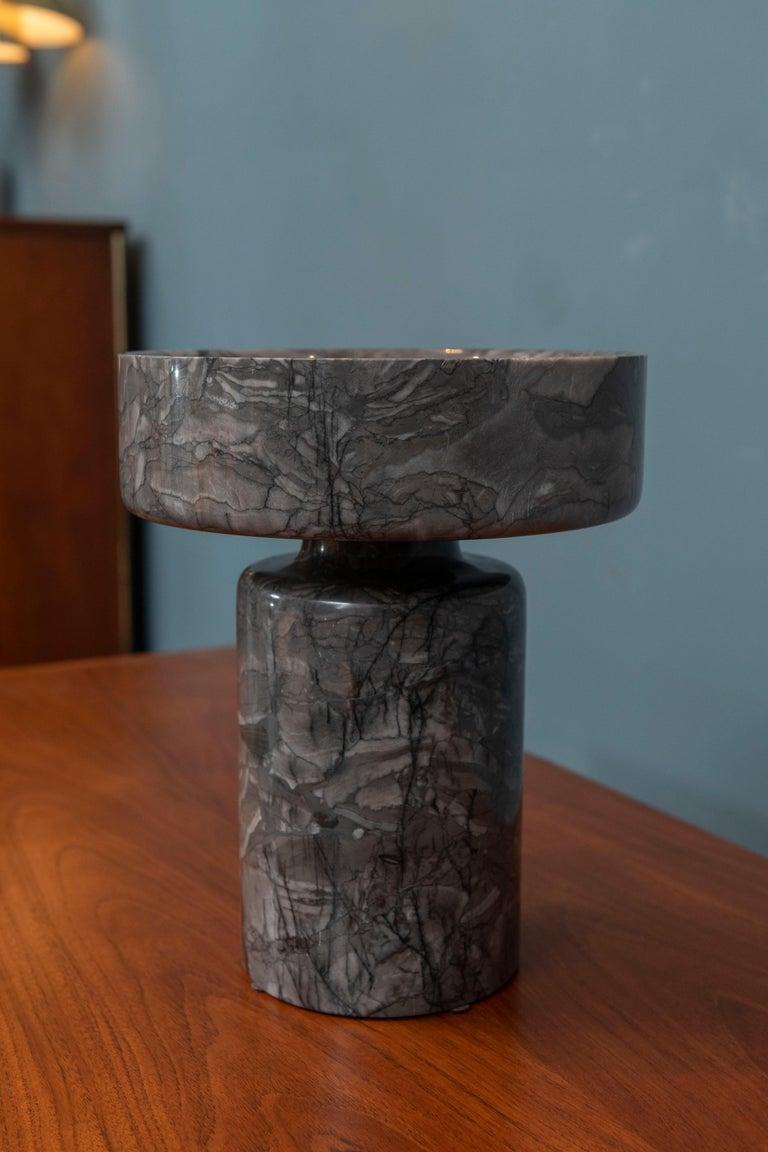 Italian Angelo Mangiarotti Marble Vase Vessel For Sale