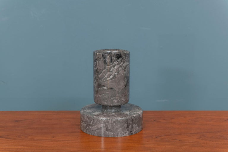Angelo Mangiarotti Marble Vase Vessel In Good Condition For Sale In San Francisco, CA
