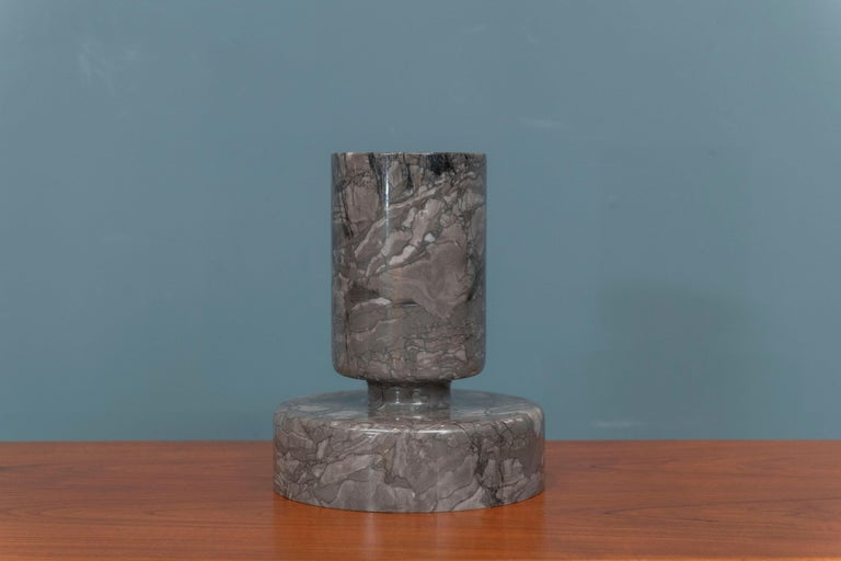 Mid-20th Century Angelo Mangiarotti Marble Vase Vessel For Sale