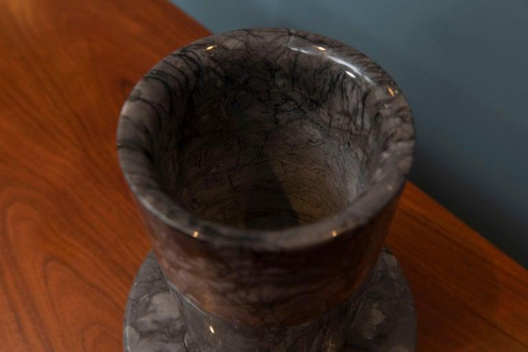 Angelo Mangiarotti Marble Vase Vessel For Sale 2