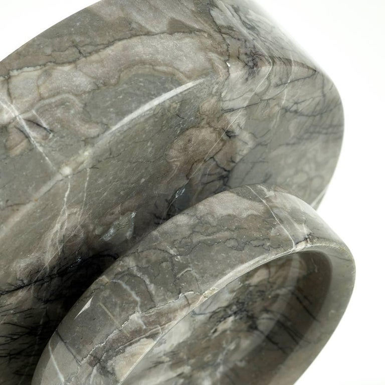 Angelo Mangiarotti for Knoll International  Grey and white marble vessel or bowl  Italy / USA, 1967  Marble   Measures: 10½ diameter × 5½ height in  27 × 14 cm.