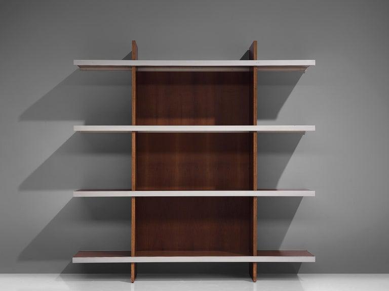 Mid-Century Modern Angelo Mangiarotti Multiuse Cabinet in Teak For Sale
