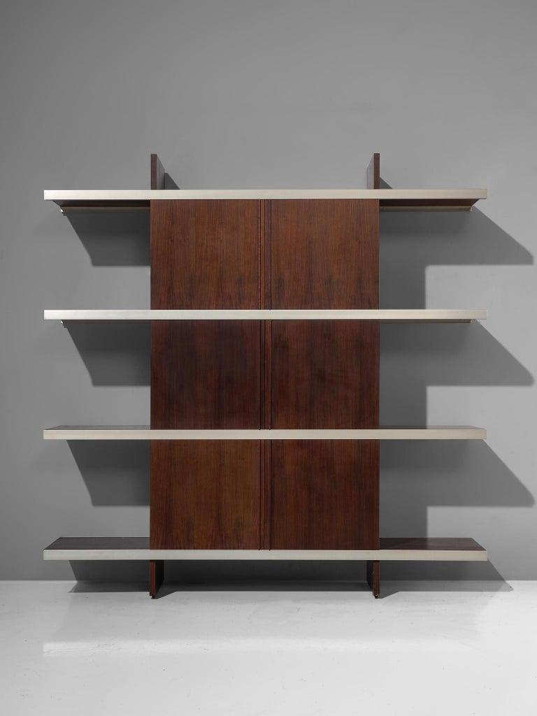 Mid-Century Modern Angelo Mangiarotti Multiuse Cabinet with Sliding Doors For Sale