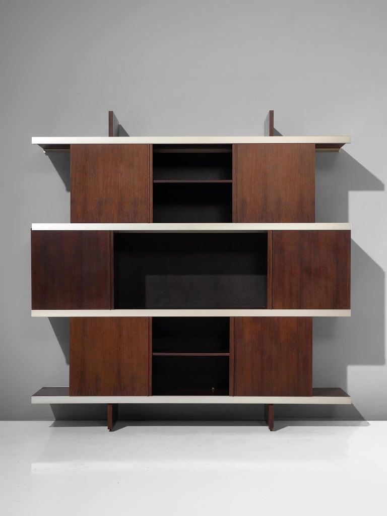 Italian Angelo Mangiarotti Multiuse Cabinet with Sliding Doors For Sale
