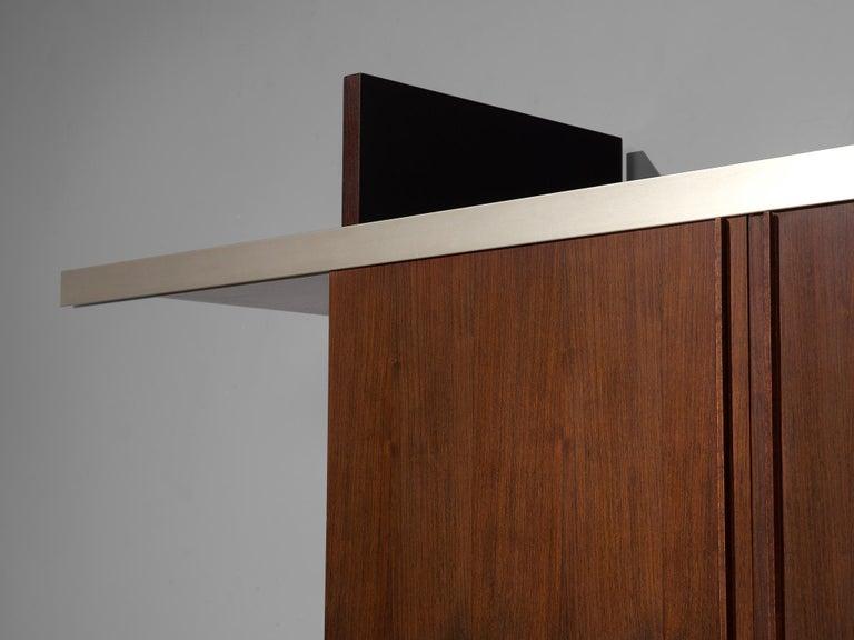 Aluminum Angelo Mangiarotti Multiuse Cabinet with Sliding Doors For Sale