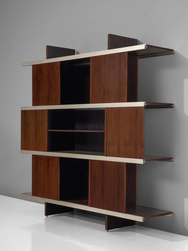 Angelo Mangiarotti Multiuse Cabinet with Sliding Doors For Sale 1