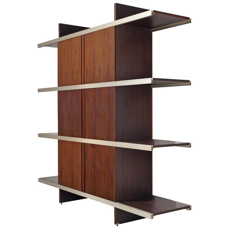 Angelo Mangiarotti Multiuse Cabinet with Sliding Doors For Sale