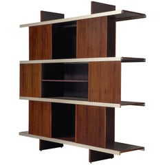 Angelo Mangiarotti Multiuse Cabinet with Sliding Doors
