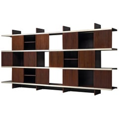 Angelo Mangiarotti Multiuse Cabinets with Sliding Doors