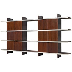 Angelo Mangiarotti Multiuse Pair of Cabinets with Sliding Doors