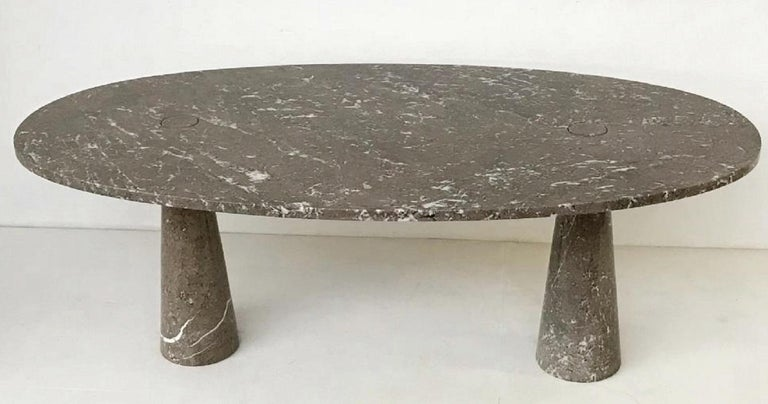 Angelo Mangiarotti Oval 'Eros' Marble Dining Table For Sale 1