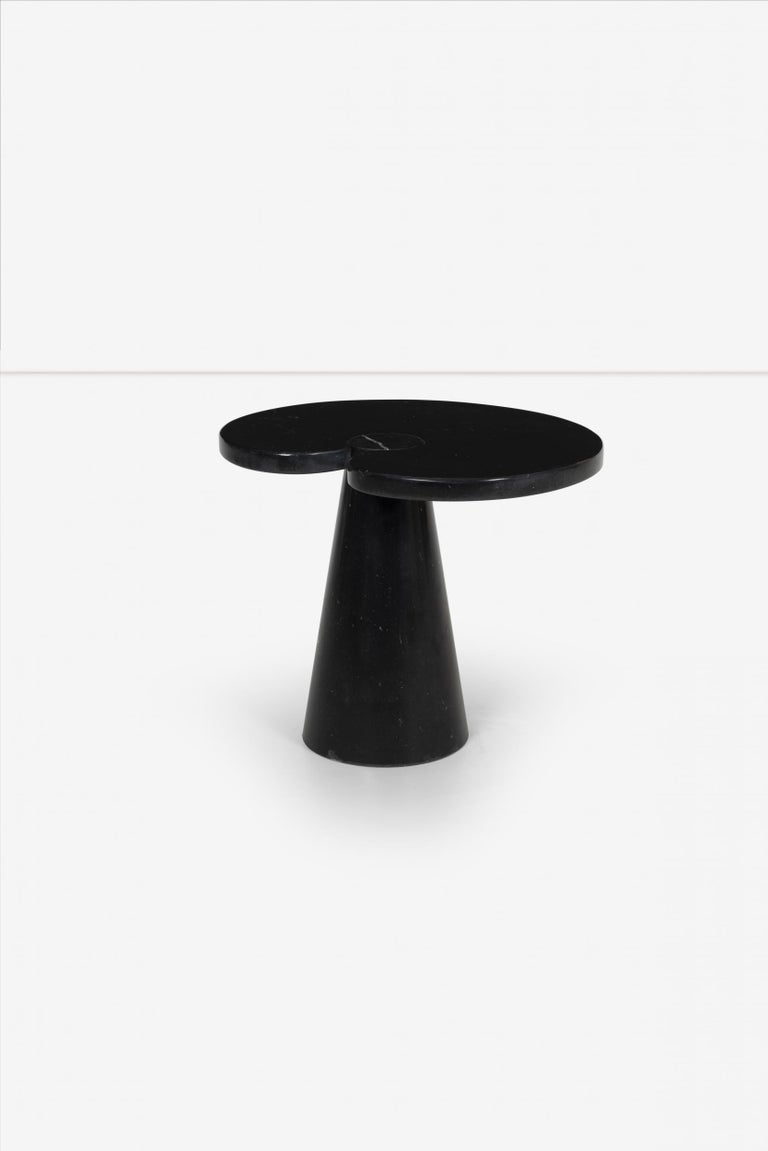 Polished Angelo Mangiarotti Pair of Large and Small Tables For Sale