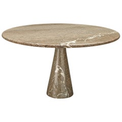 Angelo Mangiarotti Pedestal Table in Marble