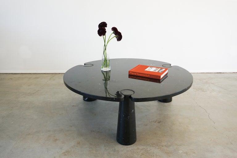 Mid-Century Modern Angelo Mangiarotti Round Marble Eros Coffee Table For Sale