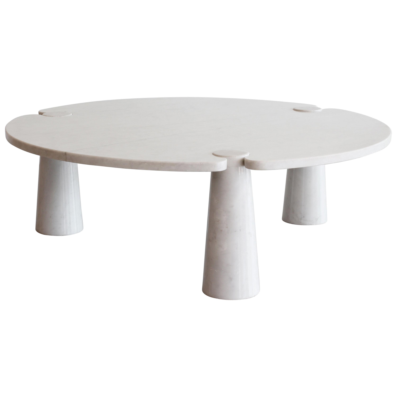 Angelo Mangiarotti Round Marble Eros Coffee Table At 1stdibs