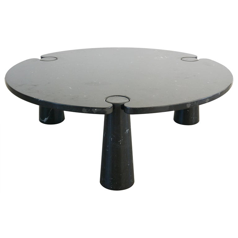 Angelo Mangiarotti Round Marble Eros Coffee Table For Sale
