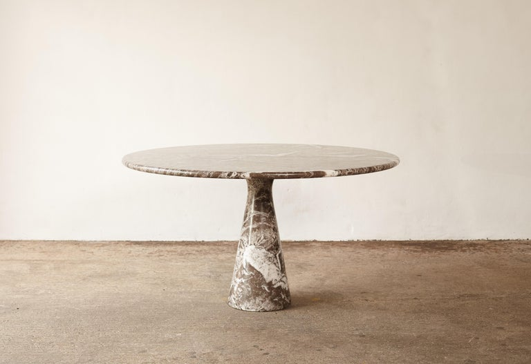 Italian Angelo Mangiarotti Round Marble T70 Dining Table, Italy, 1960s-1970s For Sale