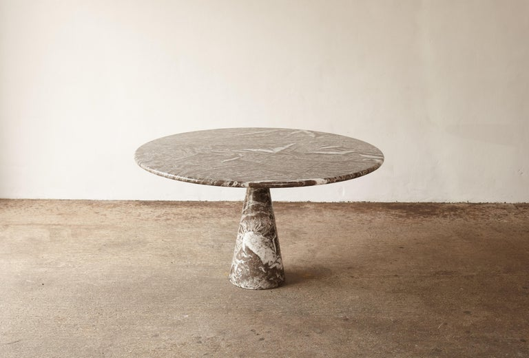Angelo Mangiarotti Round Marble T70 Dining Table, Italy, 1960s-1970s In Good Condition For Sale In London, GB