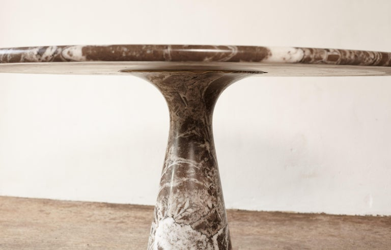 Angelo Mangiarotti Round Marble T70 Dining Table, Italy, 1960s-1970s For Sale 1