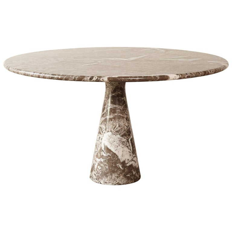 Angelo Mangiarotti Round Marble T70 Dining Table, Italy, 1960s-1970s For Sale