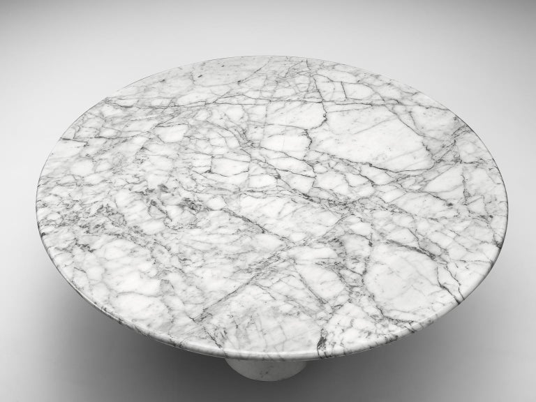 Angelo Mangiarotti Round Marble Table In Good Condition For Sale In Waalwijk, NL