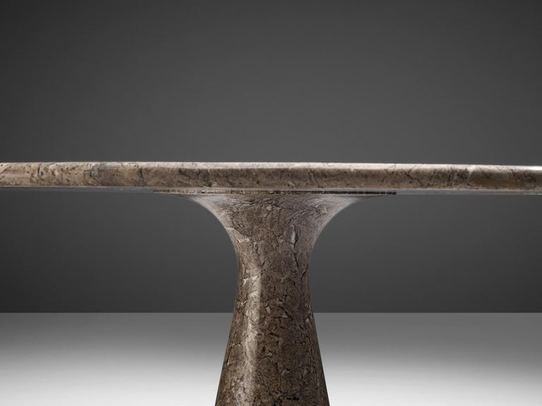 Angelo Mangiarotti Round Pedestal Dining Table in Marble 1