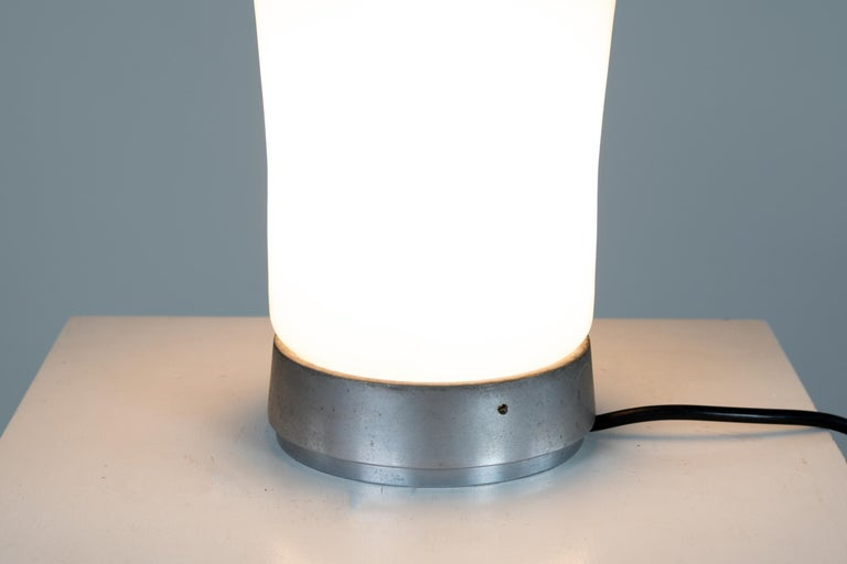 Late 20th Century Angelo Mangiarotti Saffo Table Lamp in Blown Glass for Artemide, 1970 For Sale