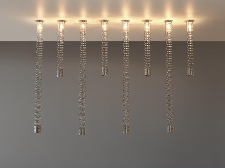 Angelo Mangiarotti for Candle, set of eight ceiling lights model