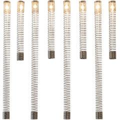 Angelo Mangiarotti Set of Eight 'Spirali' Ceiling Lights
