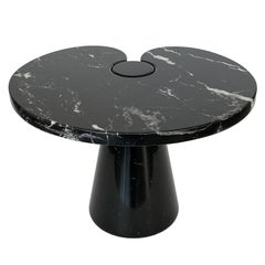 Angelo Mangiarotti Short Eros Side Table in Black Marquina Marble
