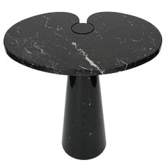 Angelo Mangiarotti Tall Eros Side Table in Black Marquina Marble