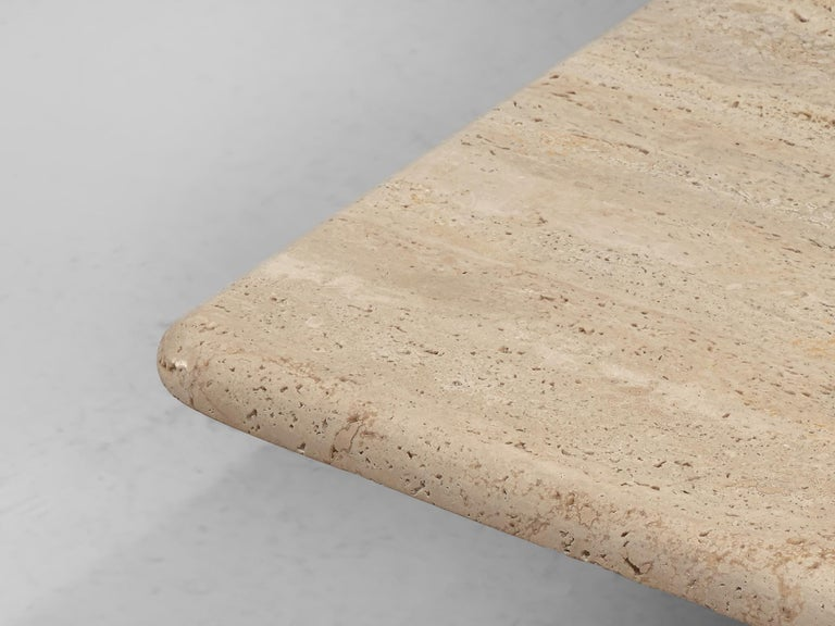 Angelo Mangiarotti Travertine Coffee Table for Up & Up For Sale 2