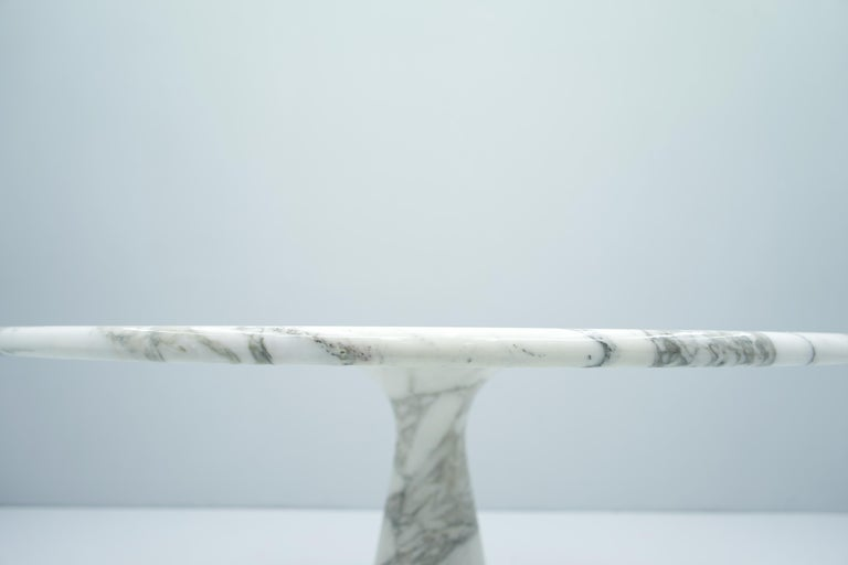Angelo Mangiarotti White and Grey Marble Dining Table M1 Skipper, 1969 In Good Condition For Sale In Frankfurt / Dreieich, DE