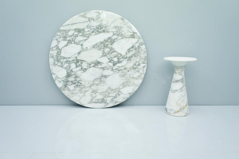 Carrara Marble Angelo Mangiarotti White and Grey Marble Dining Table M1 Skipper, 1969 For Sale
