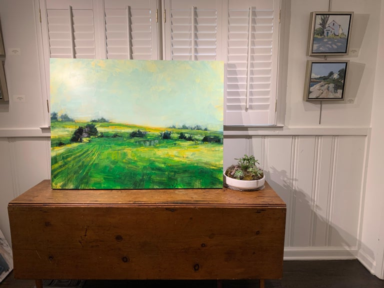 As It So Happens by Angie Renfro, Horizontal Oil on Board Landscape Painting For Sale 1